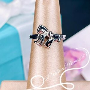 ✨Rare  Tiffany & Co. Ribbon Bow Ring in Sterling Silver